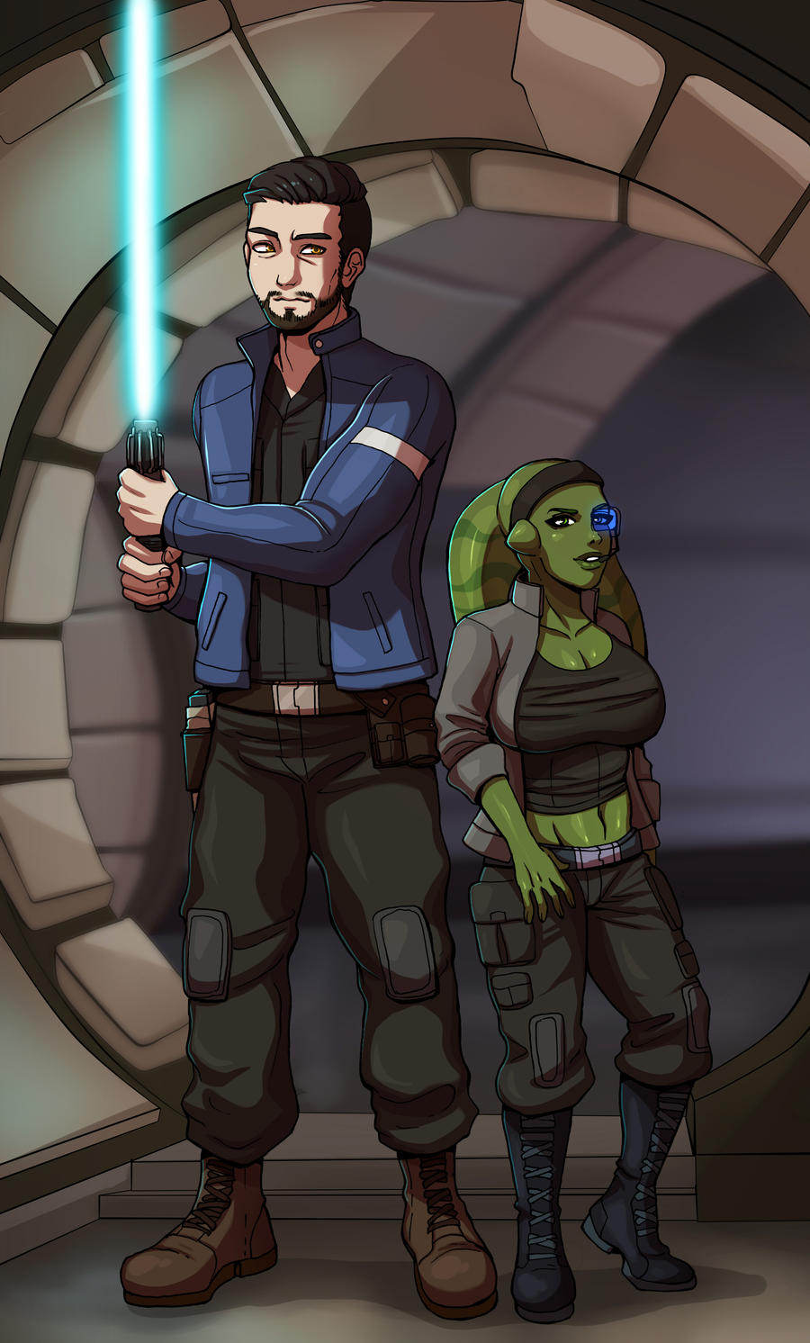 COMMISSION - Star Wars by Mafer