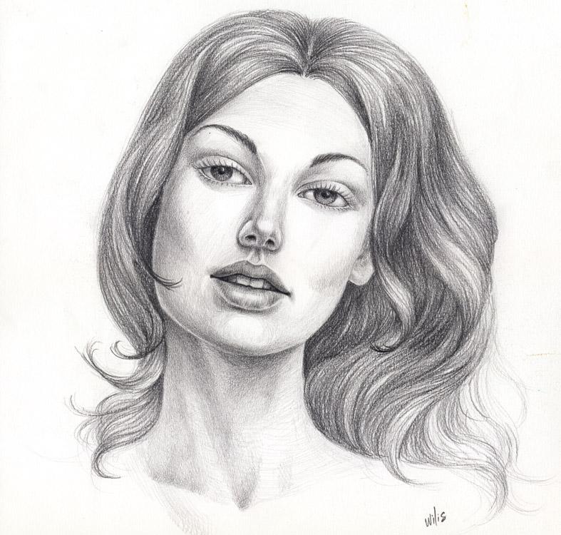 female's face by willustration on DeviantArt