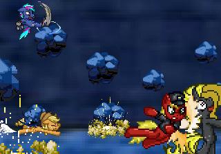 CRISIS: Equestria Fan Pixel Art: Fight! by GamefreakDX