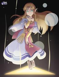 Legend of Zelda- Wielder of the Triforce of Wisdom by GameSquid