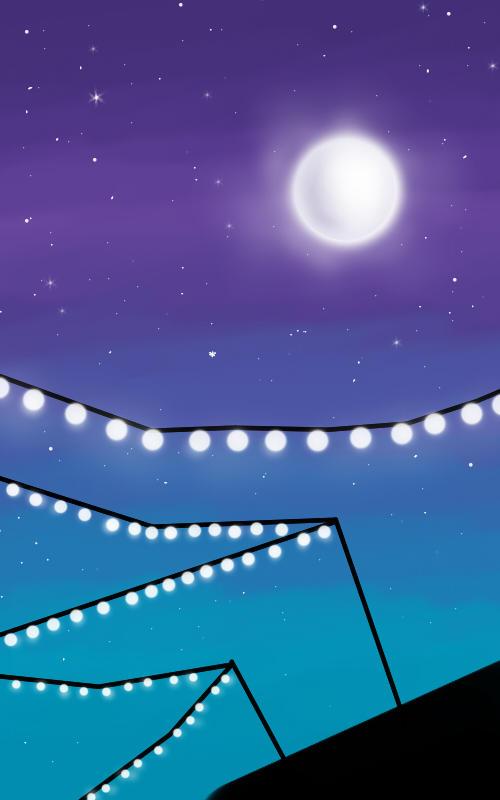 Flash-lights and moon