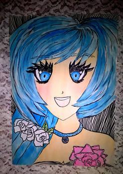 Hatsune Miku - watercolour