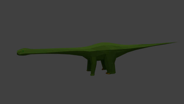Apatosaurus render:WIP