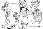 Ruin of Gods - Beastmen militia sketch