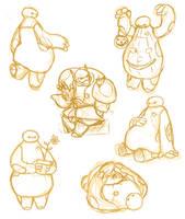 BH6: BAYMAX doodles by Odu4