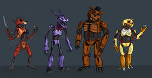Freddy and co (Killbots) by Odu4