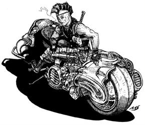 Battlelords SF bike by raben-aas