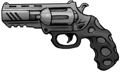 Shadowrun Revolver by raben-aas