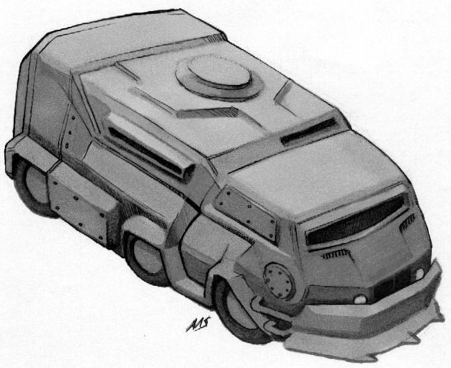 SR Shadowrunner Van by raben-aas
