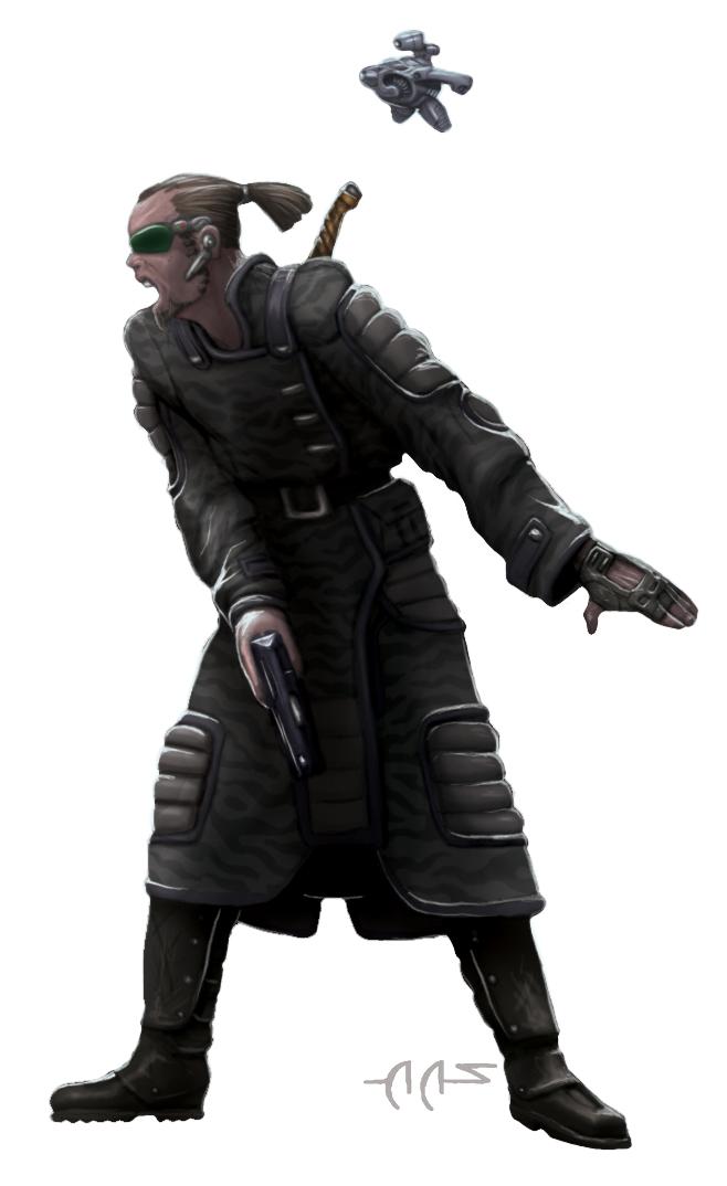 Shadowrun Rigger Samurai by raben-aas