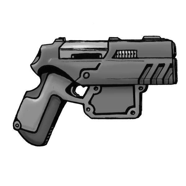 Shadowrun Handgun by raben-aas