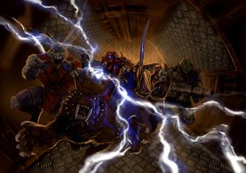 Battlelords Battlescene by raben-aas