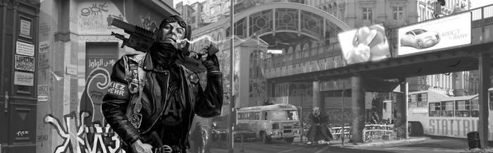 Shadowrun Anarchist Berlin by raben-aas