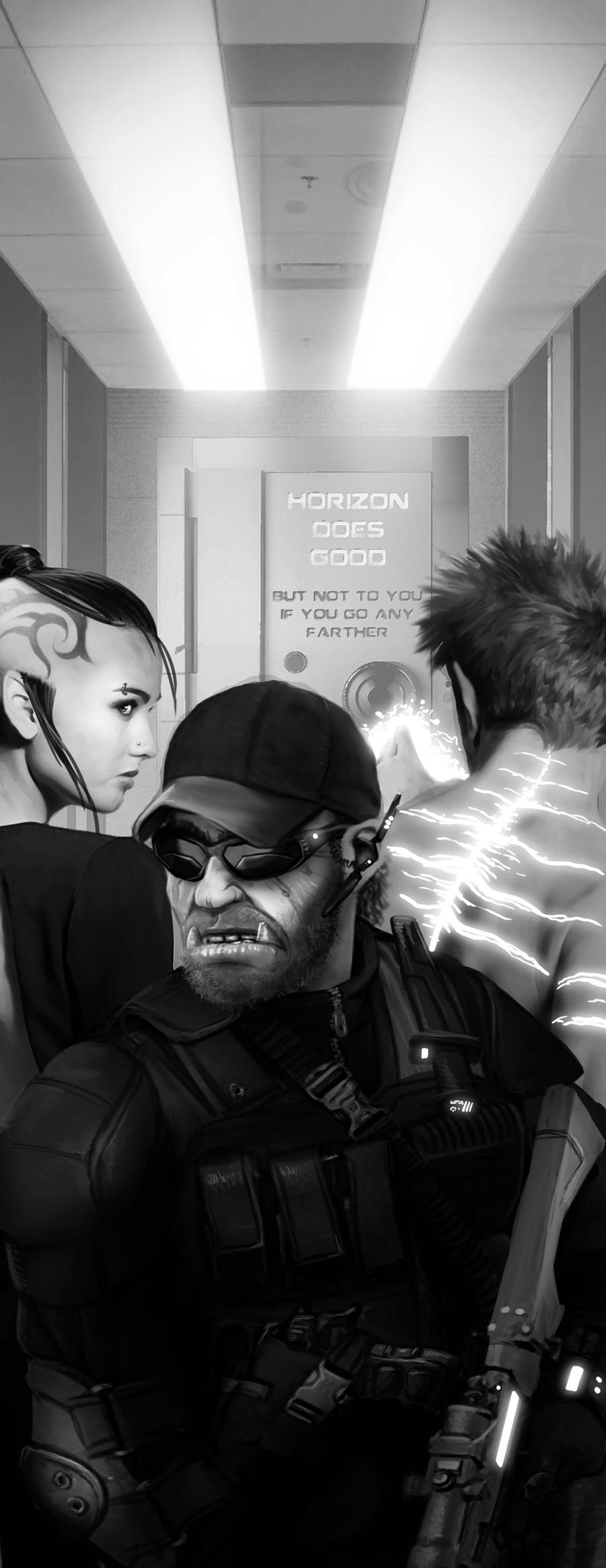 Shadowrun Horizon Artwork by raben-aas
