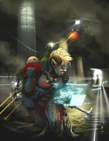 Shadowrun 5: Sewer Escape by raben-aas