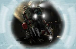 Shadowrun Ripley Freight Handling Walker by raben-aas