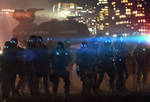 Shadowrun Riot Control Police and Walker Mech