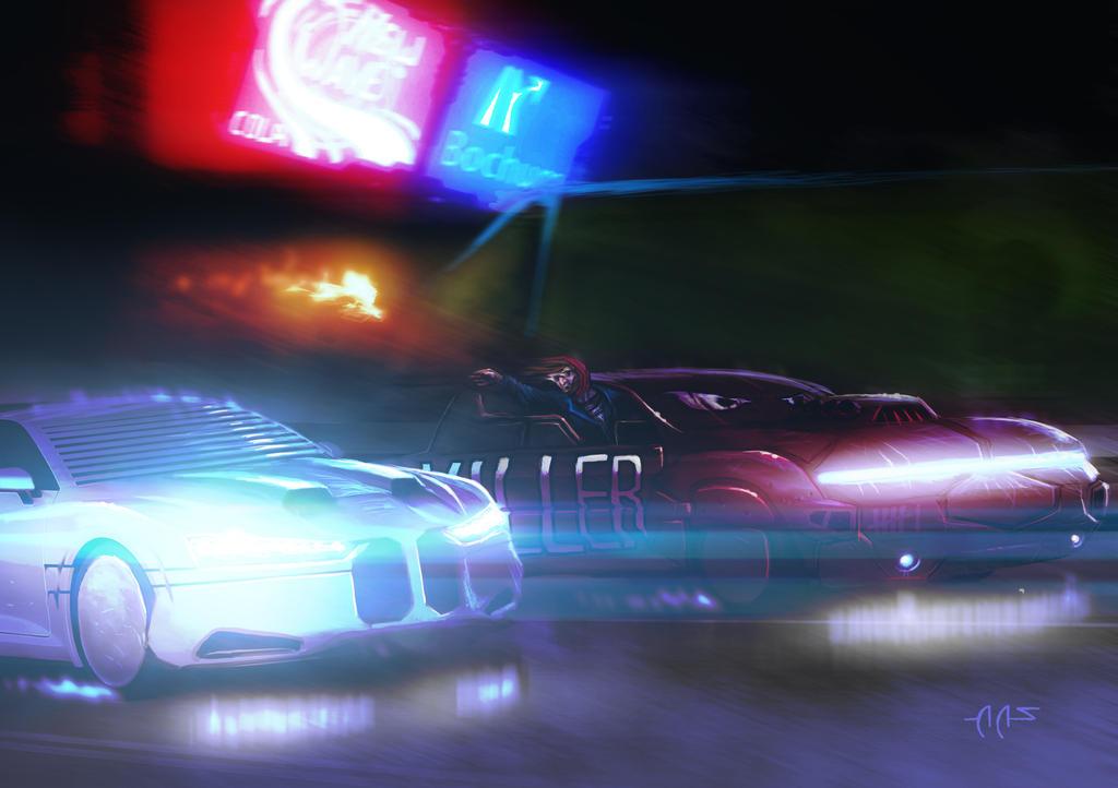 Shadowrun Autobahnkrieger Combat Race by raben-aas