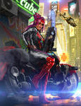 Shadowrun Female Street Samurai or Rigger