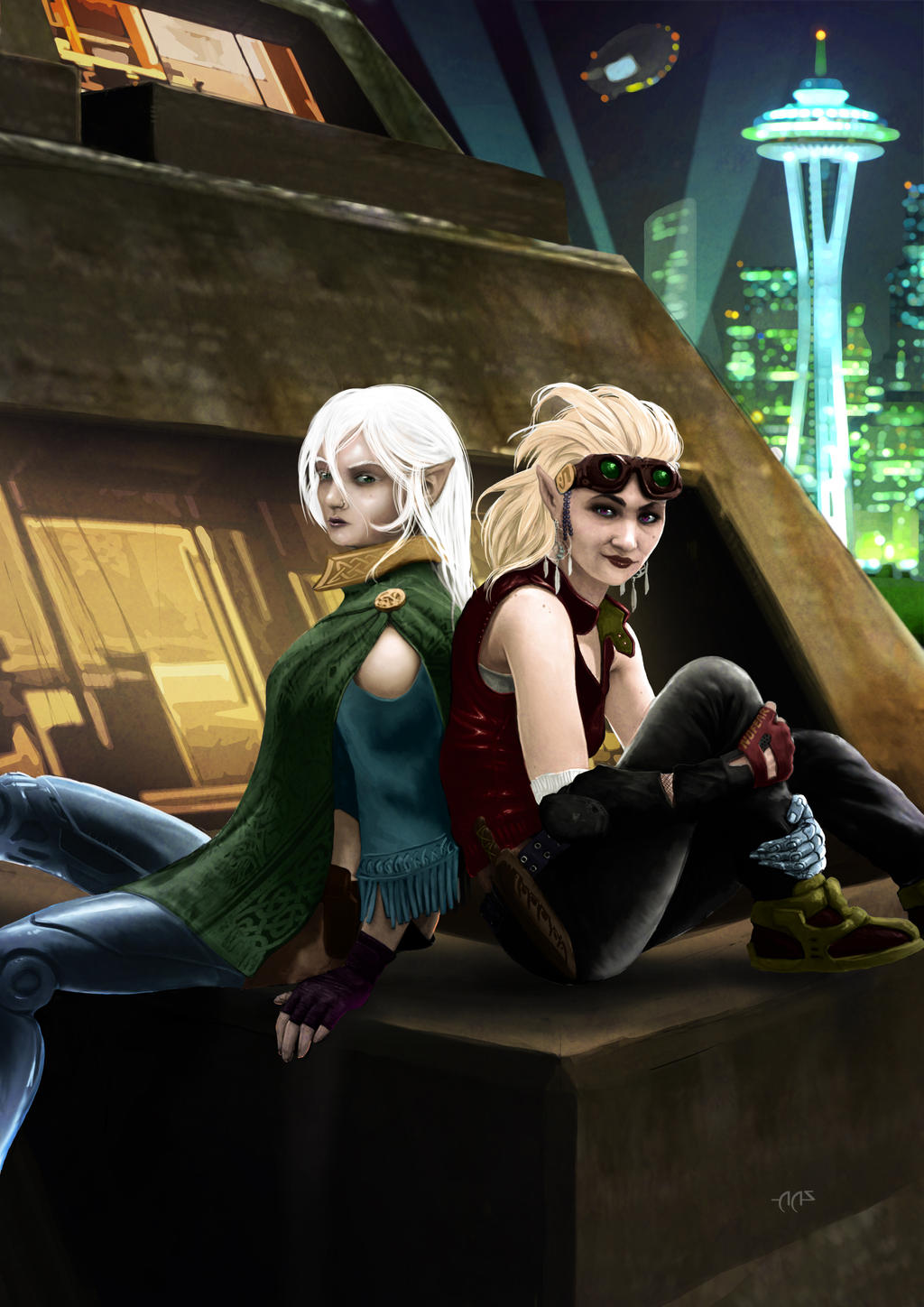 Shadowrun Character Commission Artwork by raben-aas