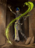 DnD Mummy Lord by raben-aas