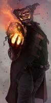 LOKI Shadowrun Troll Mage by raben-aas