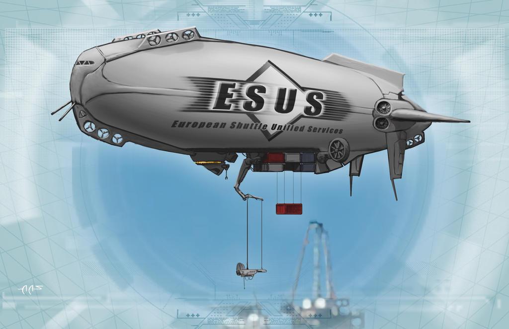 Cargolifter Skycrane / Cargo Airship by raben-aas