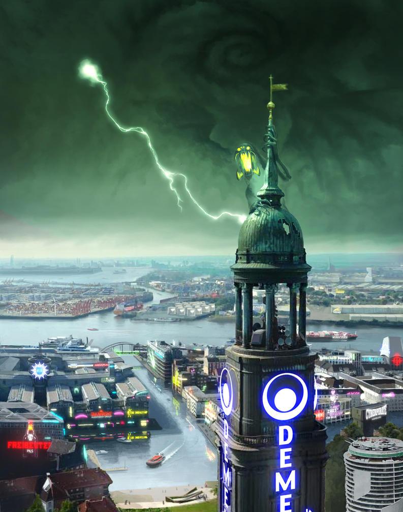 Shadowrun Hamburg Cover by raben-aas