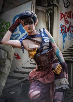 Shadowrun Commission Pandora Elf Streetfighter