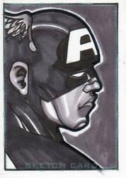 Captain America sketch card by jinn366