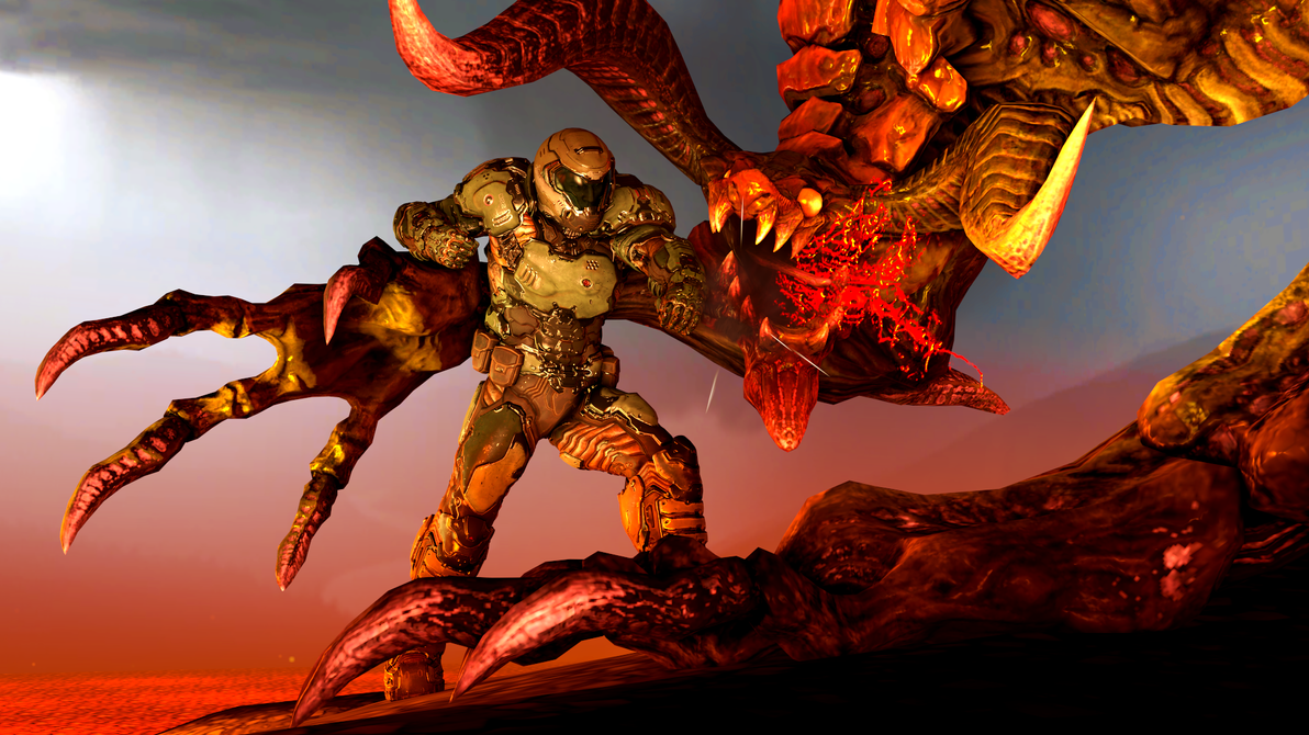 Doomslayer VS Ifrit by DFA-Studios