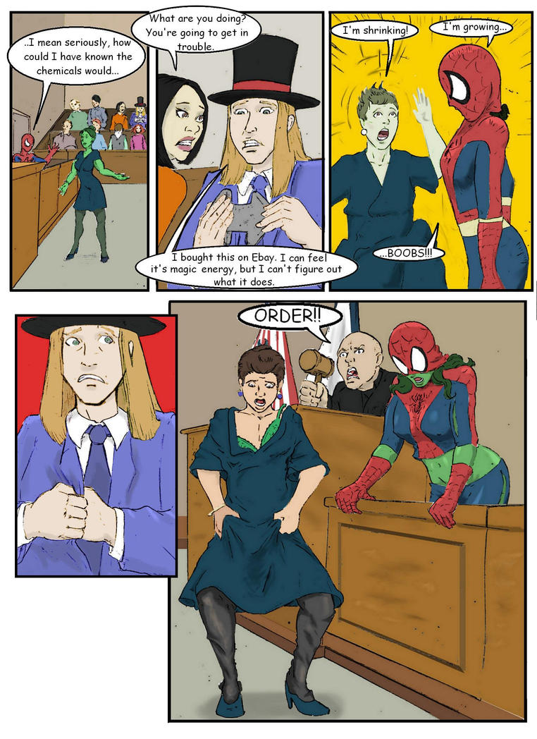 Spider-Man, She Hulk Switch by darkspectralgoat