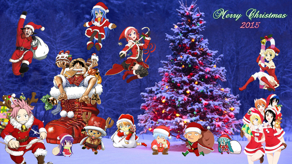 Anime Christmas Wallpaper 2015 by NekoTheOtaku on DeviantArt