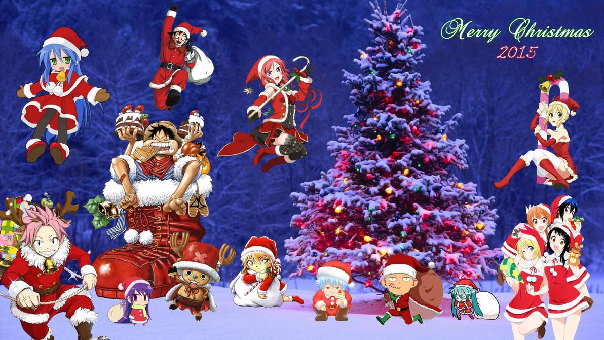 Anime Christmas Wallpaper.Anime Christmas Wallpaper 2015 Version 2 By Nekotheotaku