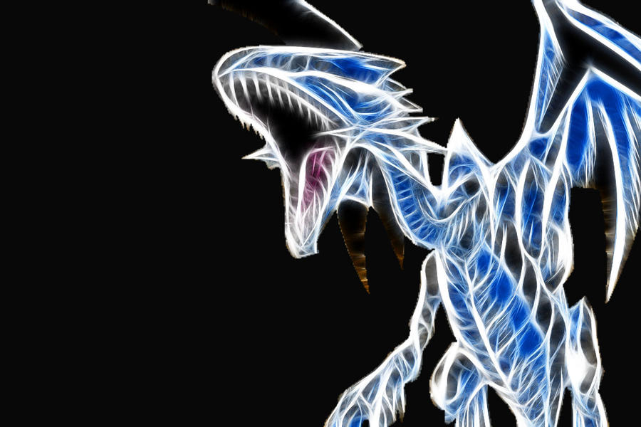 blue eyes white dragon by capthansismymaster on deviantart