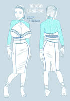 Alisha Lhak-pa - Croquis tenue by tomagraphiste