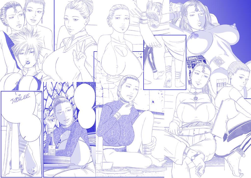 Alisha et Kimo - Planche de Croquis by tomagraphiste