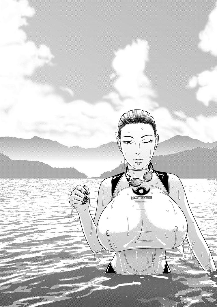 Alisha - Baignade dans le lac Phewa by tomagraphiste