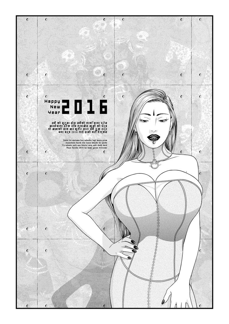 Alisha - Happy New Year 2016 by tomagraphiste