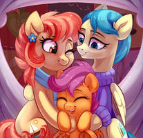 Scootaloo with her aunts