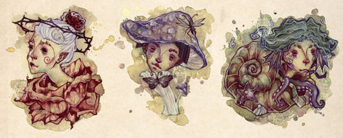 GIVE-AWAY - Three Pixies by anja-uhren