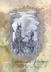 February - 2015 Calendar 'encounters' by anja-uhren