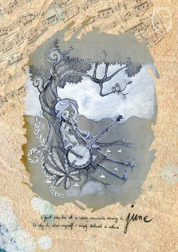 2015 calendar 'encounters' - june by Miss-Belfry