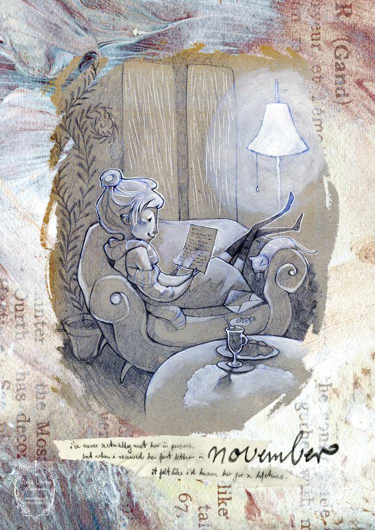 2015 calendar 'encounters' - november by Miss-Belfry