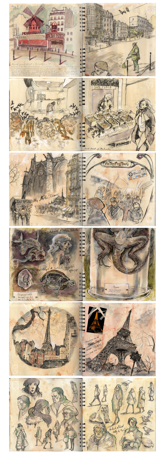 Paris Sketchbook by Miss-Belfry