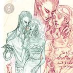 commission: don't break my wings - sketch