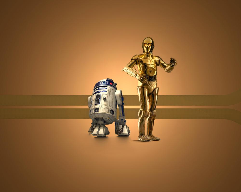 R2d2 And C3po Wallpaper C3PO v R2D2 by 1darthv...