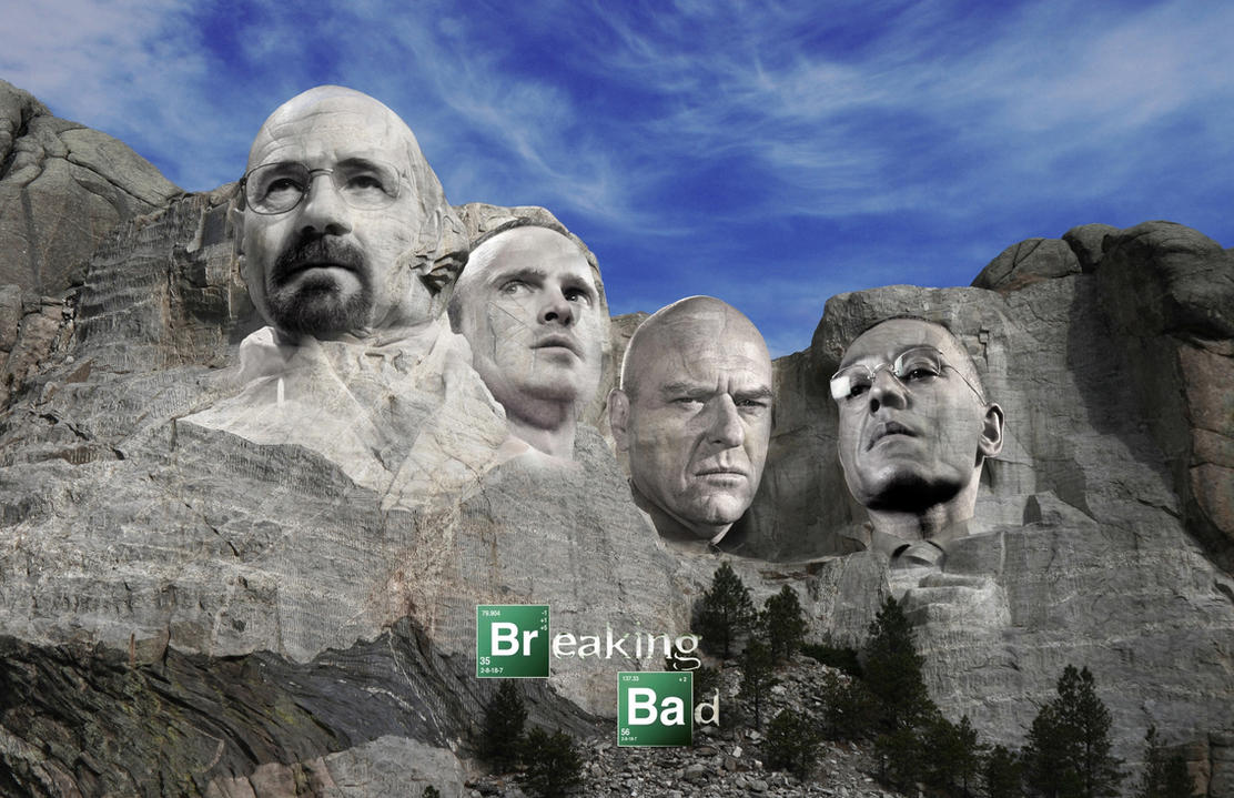 Breaking Bad Mount Rushmore by 1darthvader