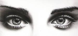 Eyes - charcoal