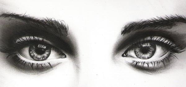 Eyes - charcoal by Amyshambles
